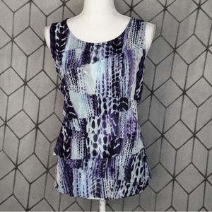 CHICO Tiered Ruffle Blouse Size 1